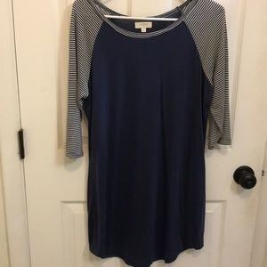 Umgee baseball tee dress